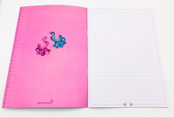 Finn liebt Annie Schreibheft Cute & Cool Pink