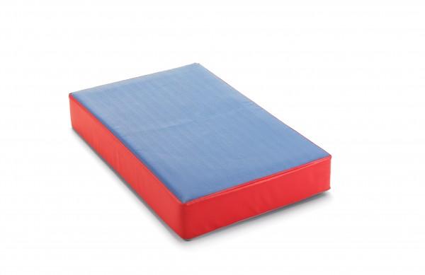 traturio Hüpfmatratze 107x70x17 cm Outdoor blau/rot