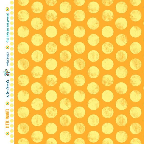 Bine Braendle Fette Punkte Sonnengelb 0,5m x 155cm