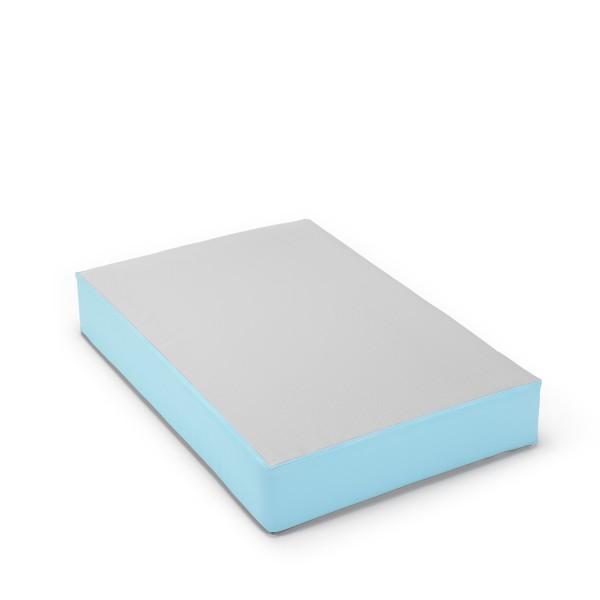 traturio Hüpfmatratze 107x70x17 cm Outdoor grau/eisblau