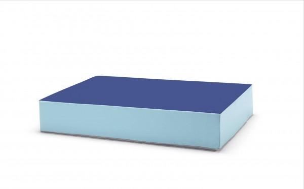traturio Hüpfmatratze 130x90x25 cm blau/eisblau