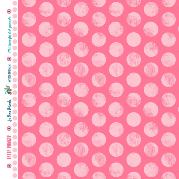 """Bine Brändle 100% Baumwolle """"Fette Punkte Rosa"""" 0,5m x 155cm"""