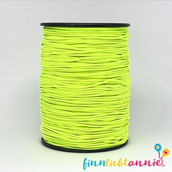 Elastische Gummikordel neongelb 2,2mm