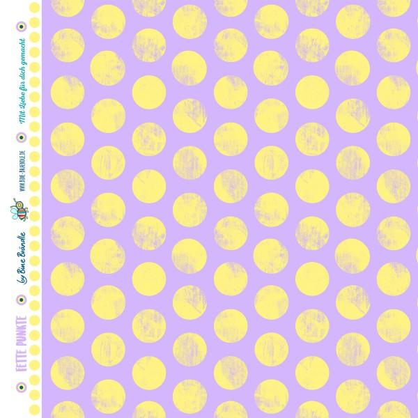 """Bine Brändle 100% Baumwolle """"Fette Punkte Pastell Lila"""" 0,5m x 155cm"""