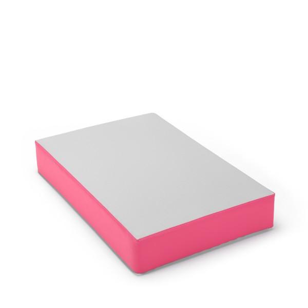 traturio Hüpfmatratze 107x70x17 cm Outdoor grau/pink
