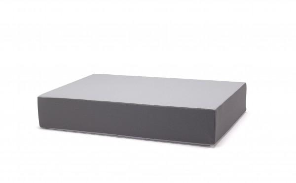 traturio Hüpfmatratze 130x90x25 cm hellgrau/grau genoppt