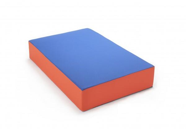 traturio Hüpfmatratze 107x70x17 cm blau/orange