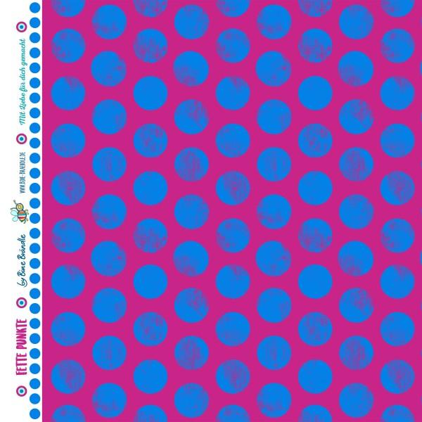 "Bine Brändle 100% Baumwolle ""Fette Punkte Violett"" 0,5m x 155cm"