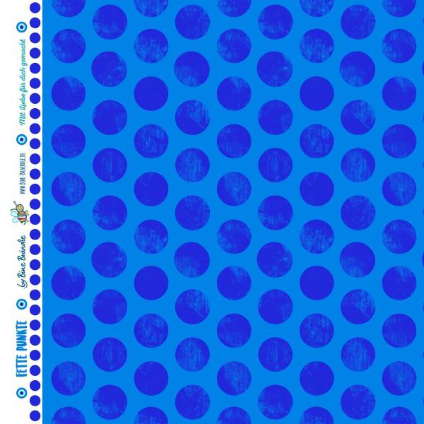 Bine Braendle Fette Punkte Blau 0,5m x 155cm