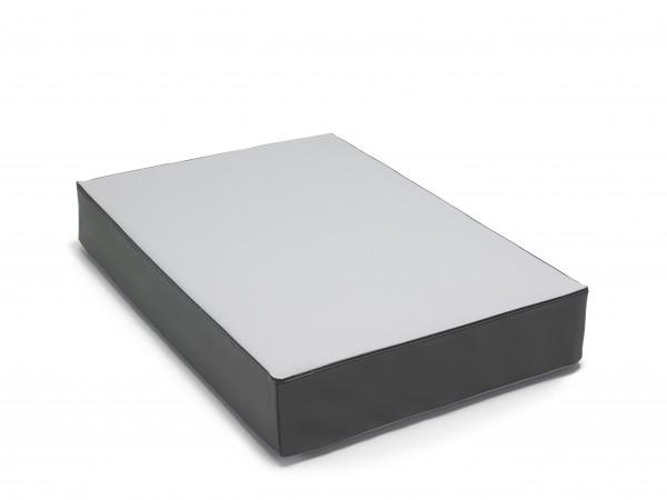 traturio Hüpfmatratze 107x70x17 cm hellgrau/schwarz